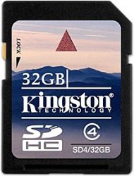 flash sdhc 32g class4 kingston sd4-32gb