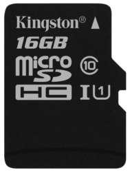 flash microsdhc 16g class10 uhs-1 kingston sdc10g2-16gbsp