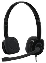 headphone logitech h151 981-000589 stereo headset