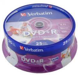 media dvd+r verbatim 4g7 16x printable cake25