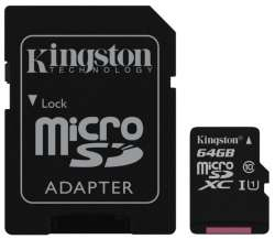 flash microsdxc 64g class10 uhs-1 kingston sdc10g2-64gb