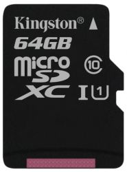 flash microsdxc 64g class10 uhs-1 kingston sdc10g2-64gbsp