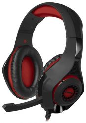 headphone sven ap-g886mv black-red+microphone