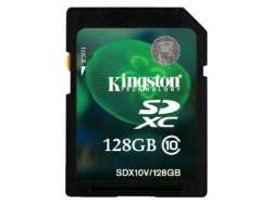 flash sdxc 128g class10 kingston sdx10v-128gb
